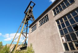 Schachtbau Nordhausen errichtete den Schacht mit 6m Durchmesser mit Klinkermauerwerk