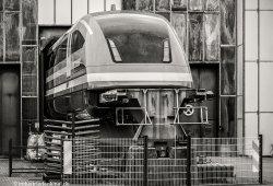 Der Transrapid 09 im Betriebsbahnhof der Transrapid Versuchsanlage Emsland (TVE)