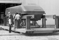 Vorbereitungen am Komet von MBB