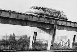 Der Transrapid 04 auf der Teststrecke