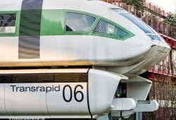 Im März 1983 wurde der Transrapid 06 der Öffentlichkeit präsentiert